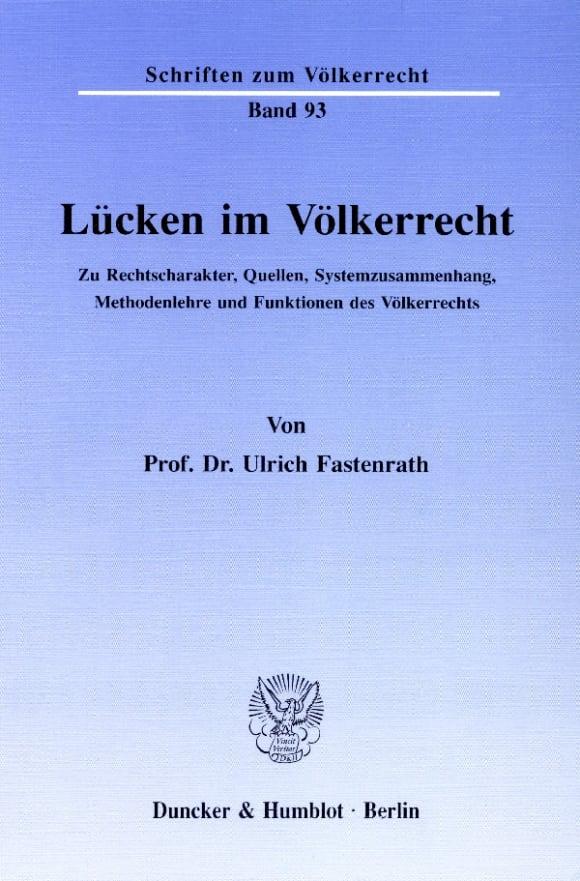 Cover Lücken im Völkerrecht