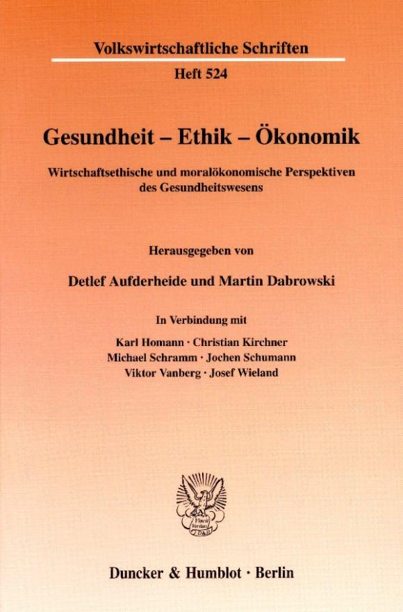 Cover Gesundheit - Ethik - Ökonomik