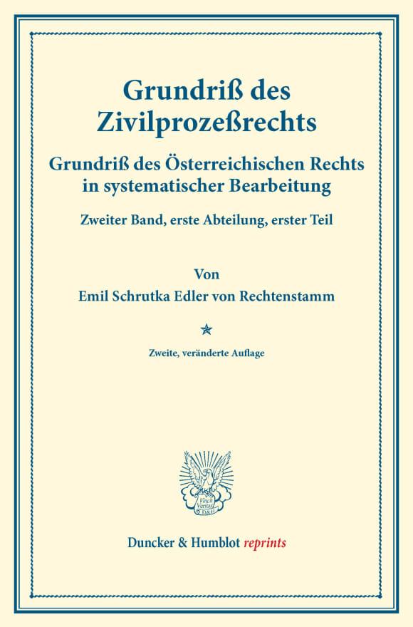 Cover Grundriß des Zivilprozeßrechts