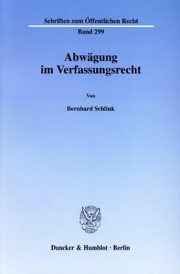 Cover Abwägung im Verfassungsrecht