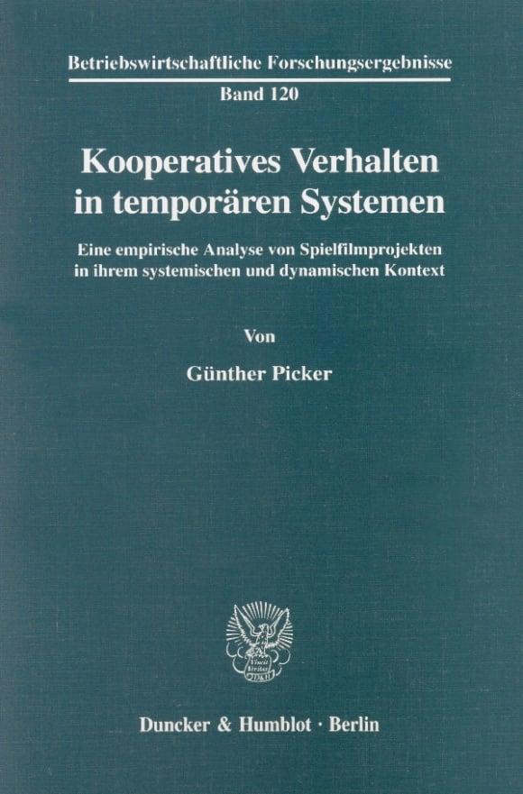 Cover Kooperatives Verhalten in temporären Systemen
