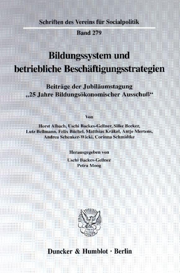 Cover Bildungssystem und betriebliche Beschäftigungsstrategien