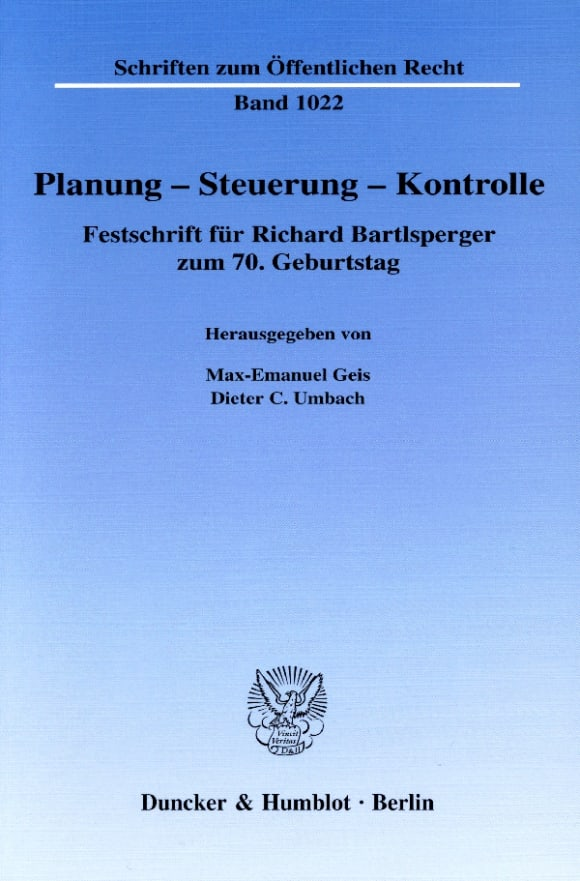 Cover Planung – Steuerung – Kontrolle