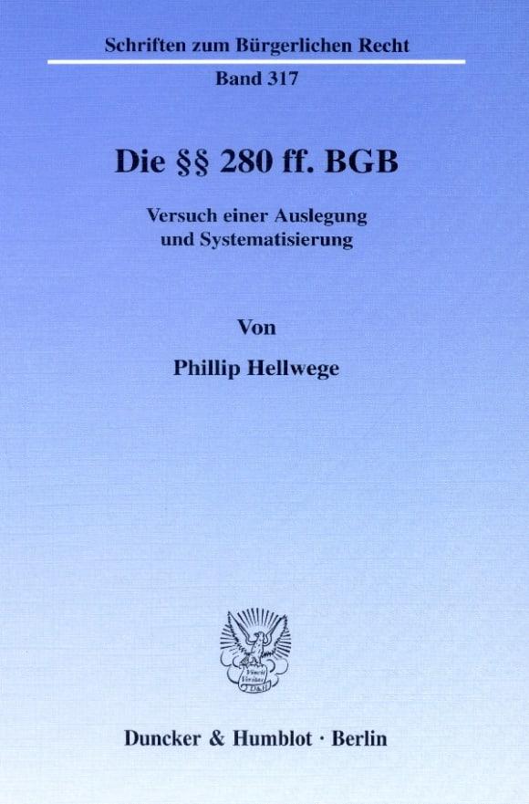 Cover Die §§ 280 ff. BGB