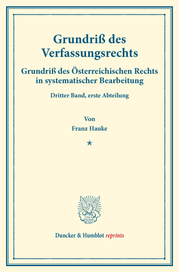 Cover Grundriß des Verfassungsrechts