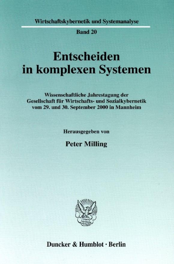 Cover Entscheiden in komplexen Systemen