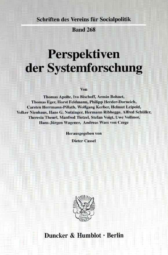 Cover Perspektiven der Systemforschung