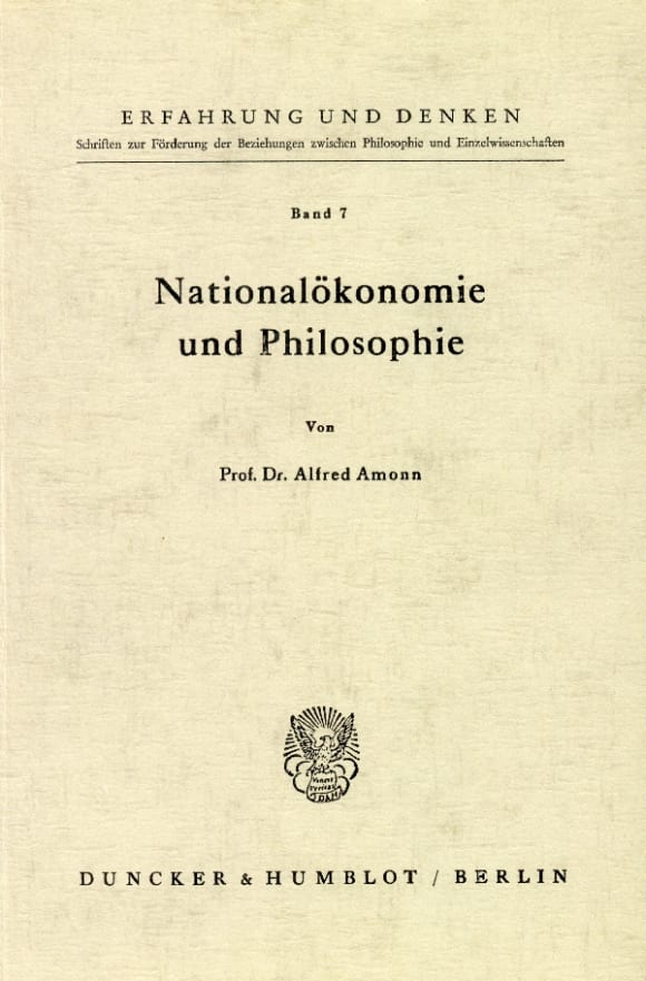 Cover Nationalökonomie und Philosophie