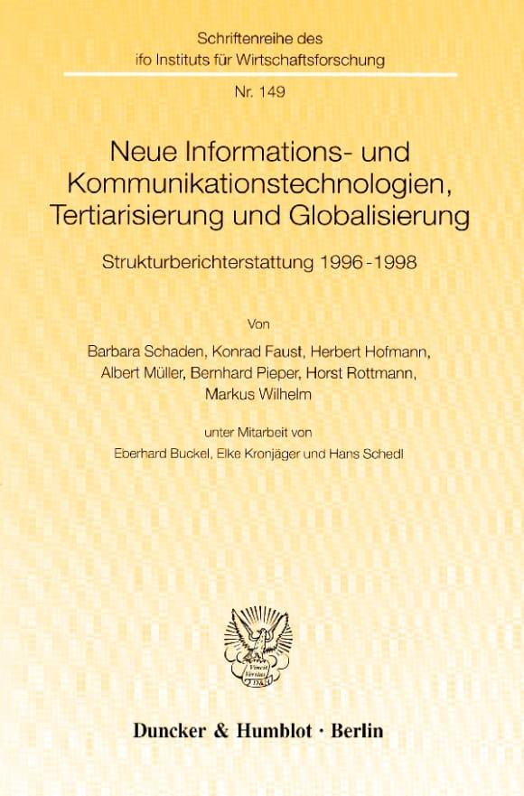 Cover Neue Informations- und Kommunikationstechnologien, Tertiarisierung und Globalisierung