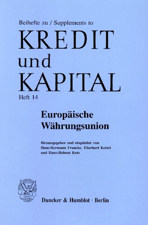 Cover Europäische Währungsunion