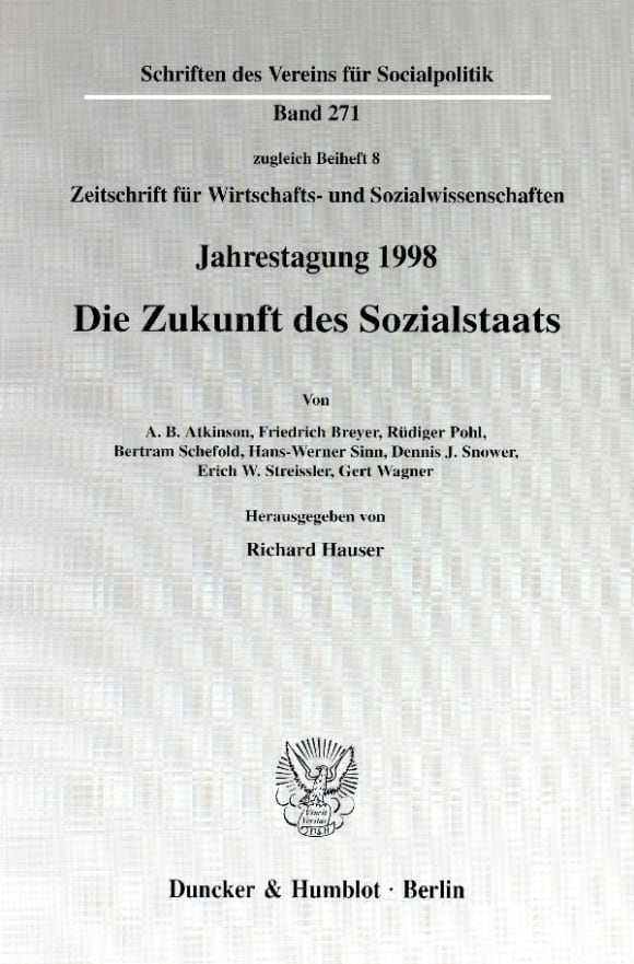 Cover Die Zukunft des Sozialstaats