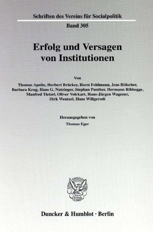 Cover Erfolg und Versagen von Institutionen