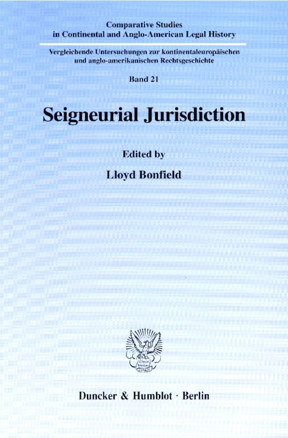 Cover Seigneurial Jurisdiction