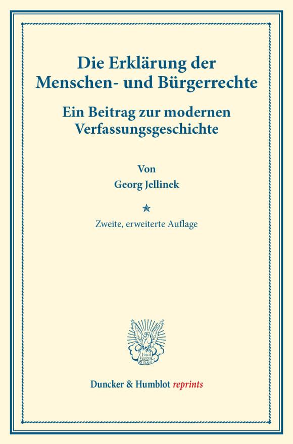 Cover Die Erklärung der Menschen- und Bürgerrechte
