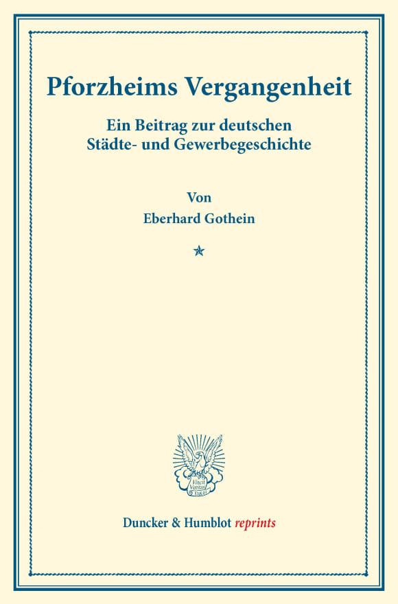 Cover Pforzheims Vergangenheit