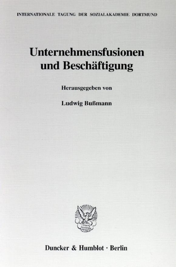 Cover Unternehmensfusionen und Beschäftigung