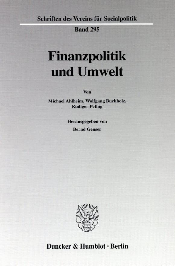 Cover Finanzpolitik und Umwelt