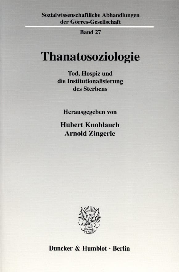 Cover Thanatosoziologie