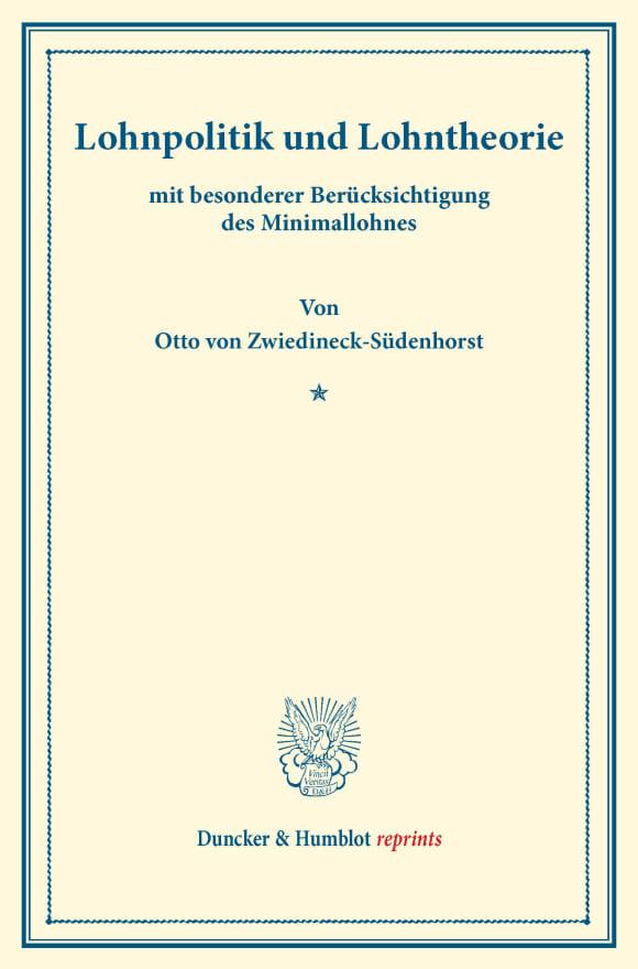 Cover Lohnpolitik und Lohntheorie