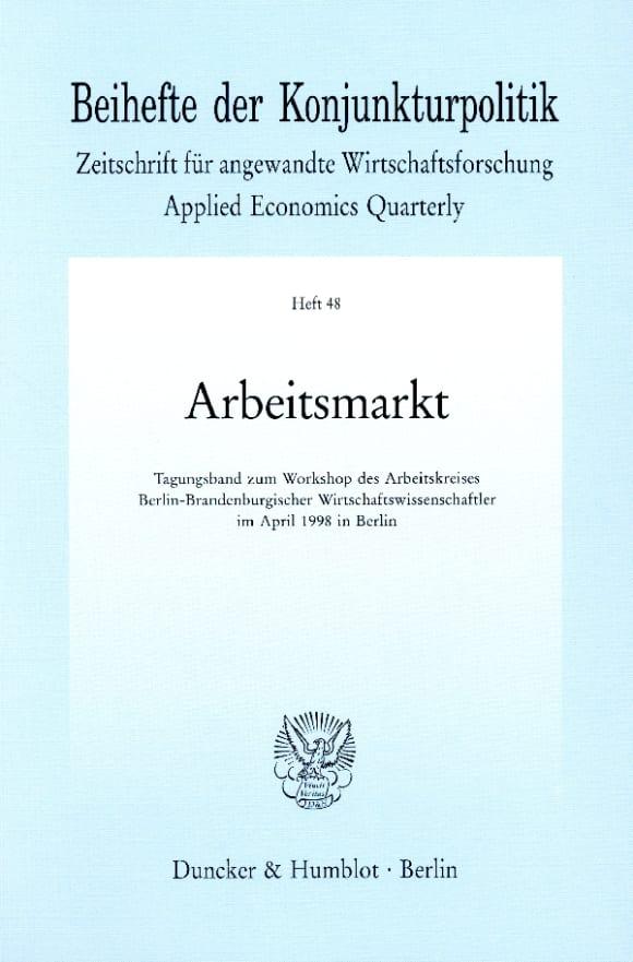 Cover Arbeitsmarkt