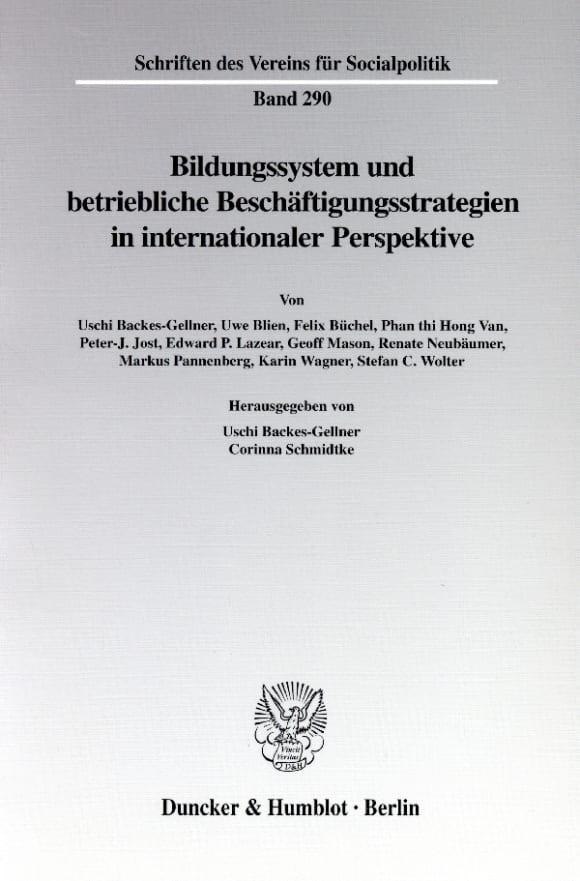 Cover Bildungssystem und betriebliche Beschäftigungsstrategien in internationaler Perspektive