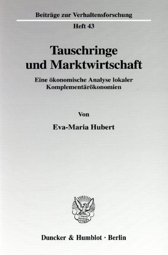 Cover Tauschringe und Marktwirtschaft