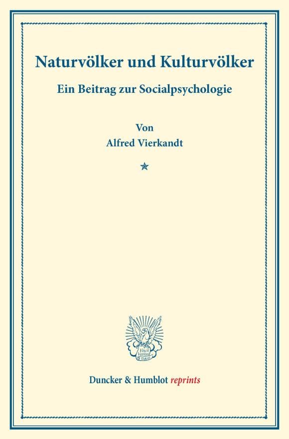 Cover Naturvölker und Kulturvölker