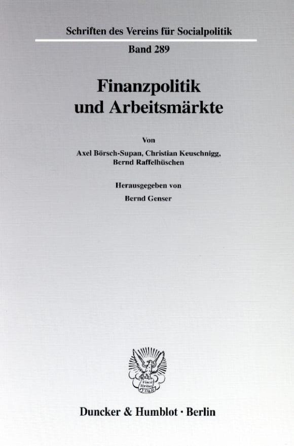 Cover Finanzpolitik und Arbeitsmärkte