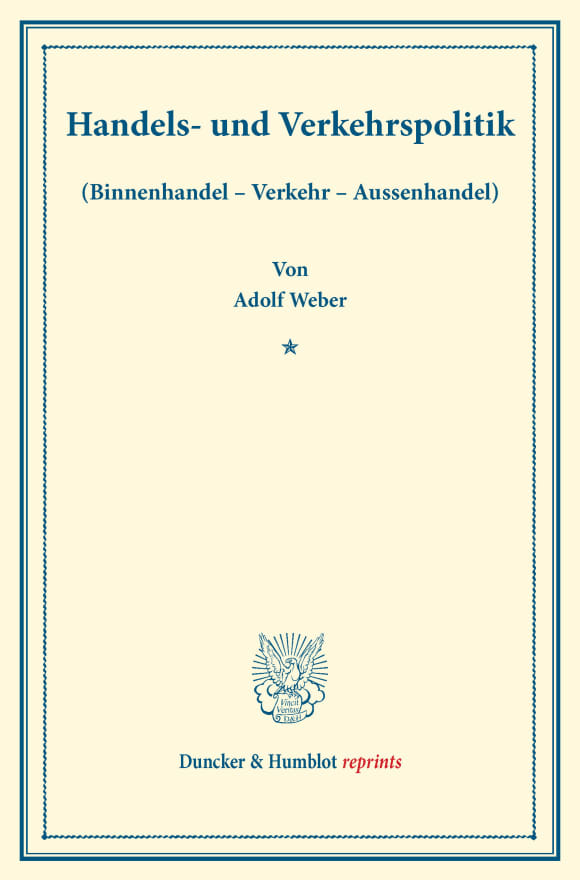 Cover Handels- und Verkehrspolitik