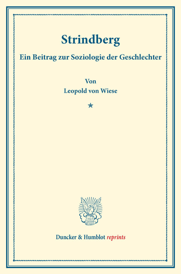 Cover Strindberg