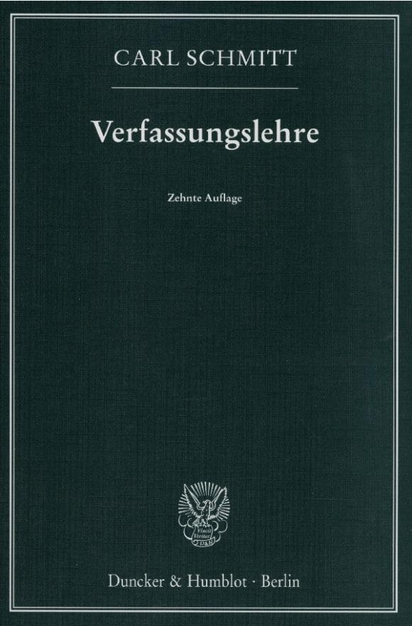 Cover Verfassungslehre