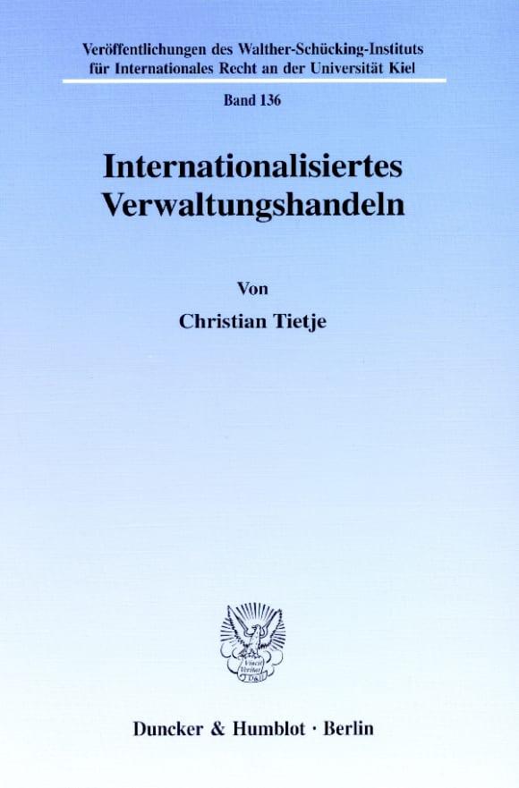 Cover Internationalisiertes Verwaltungshandeln