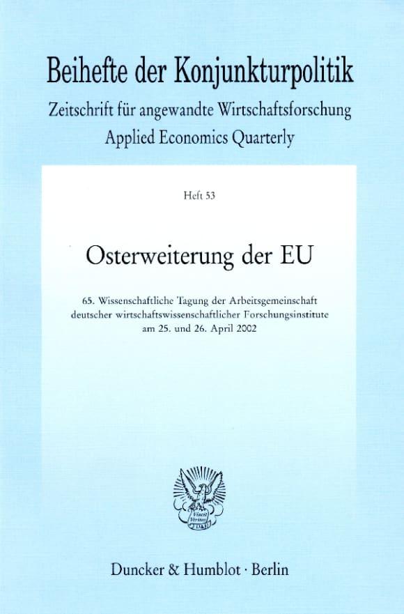 Cover Beihefte der Konjunkturpolitik (BH KOPO)