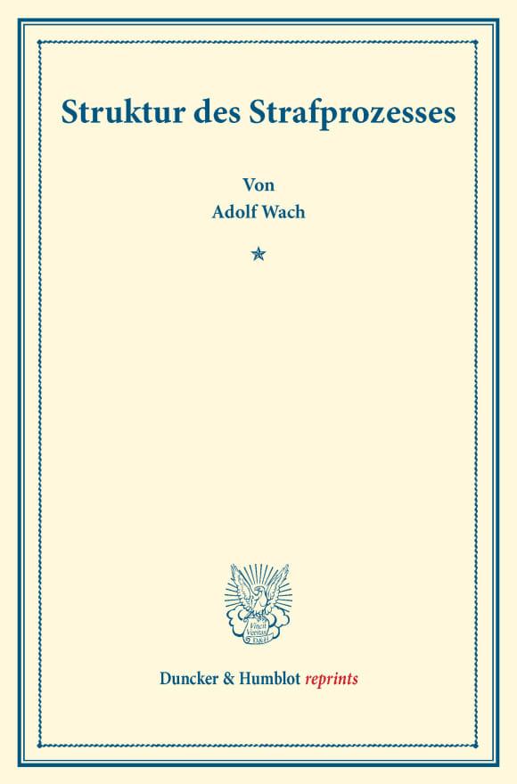 Cover Struktur des Strafprozesses