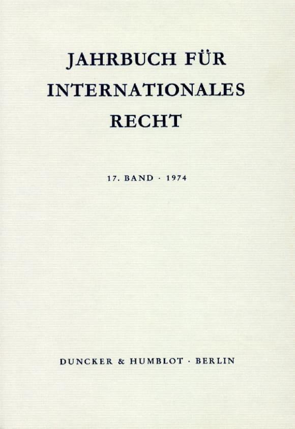 Cover Jahrbuch für Internationales Recht