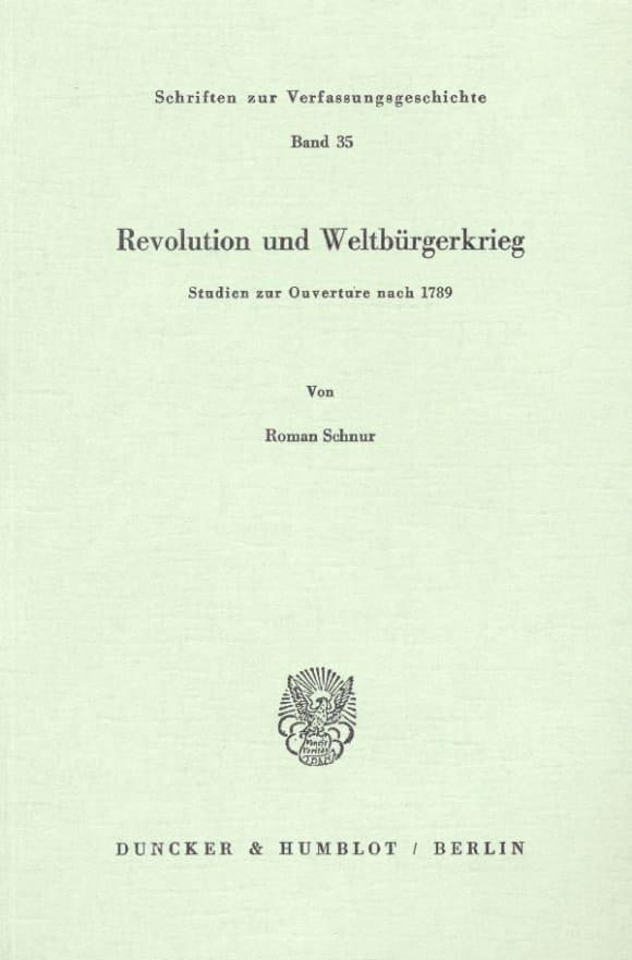 Cover Revolution und Weltbürgerkrieg