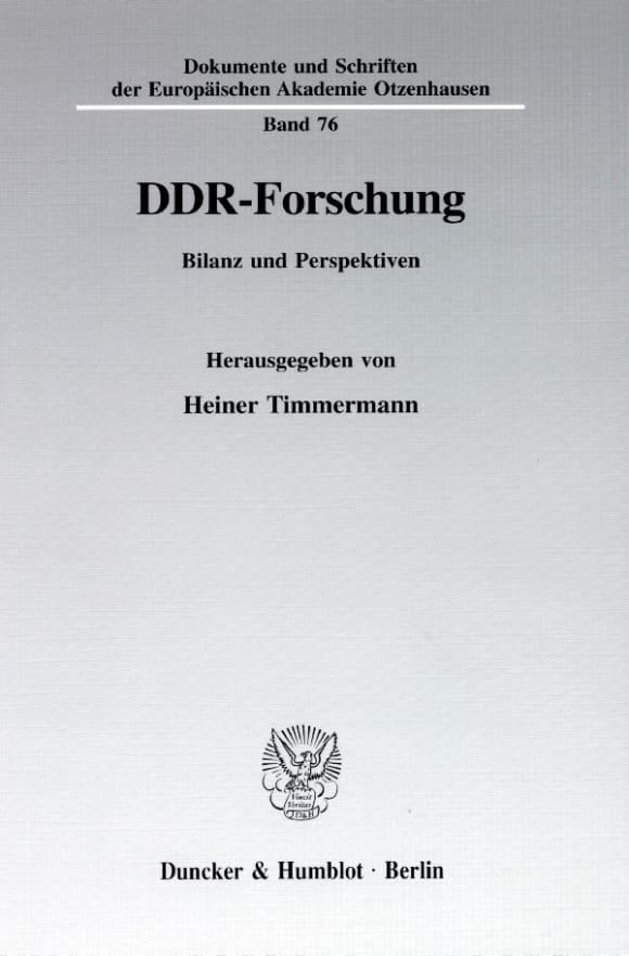 Cover DDR-Forschung
