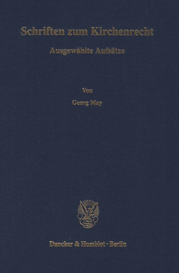 Cover Schriften zum Kirchenrecht
