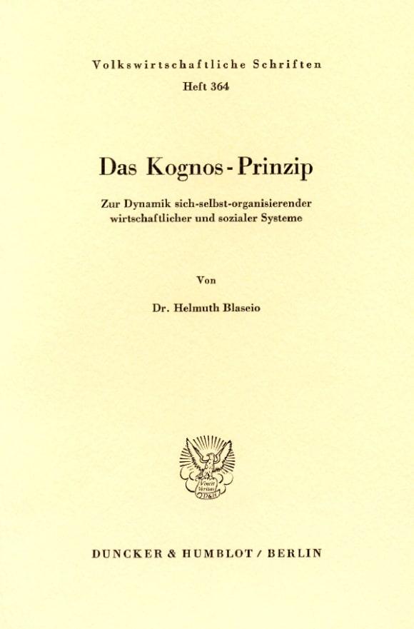 Cover Das Kognos-Prinzip