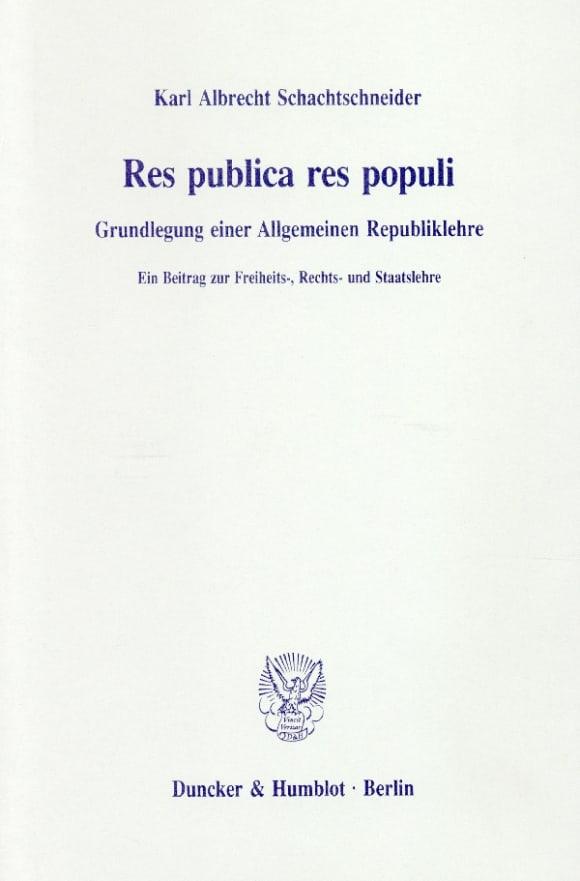 Cover Res publica res populi