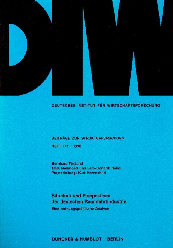 Cover Situation und Perspektiven der deutschen Raumfahrtindustrie