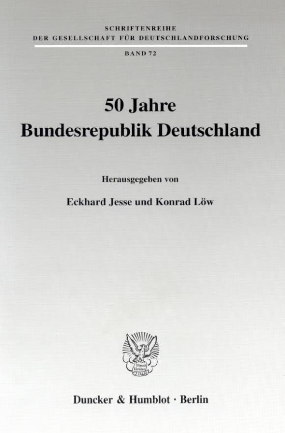 Cover 50 Jahre Bundesrepublik Deutschland