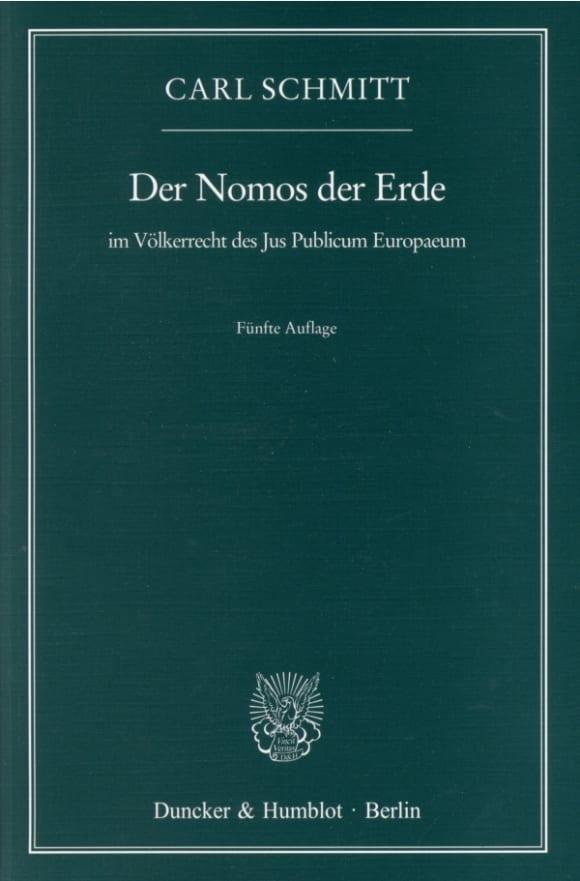 Cover Der Nomos der Erde