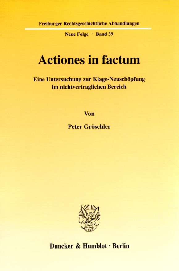 Cover Actiones in factum