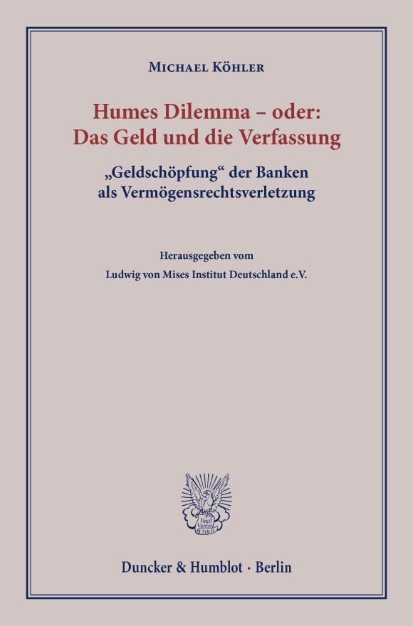 Cover Humes Dilemma – oder: Das Geld und die Verfassung