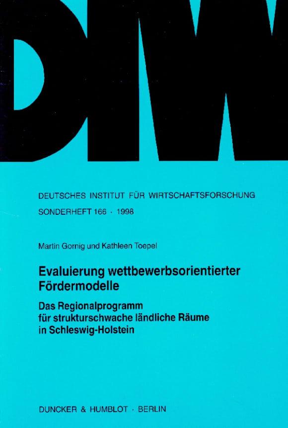 Cover Evaluierung wettbewerbsorientierter Fördermodelle