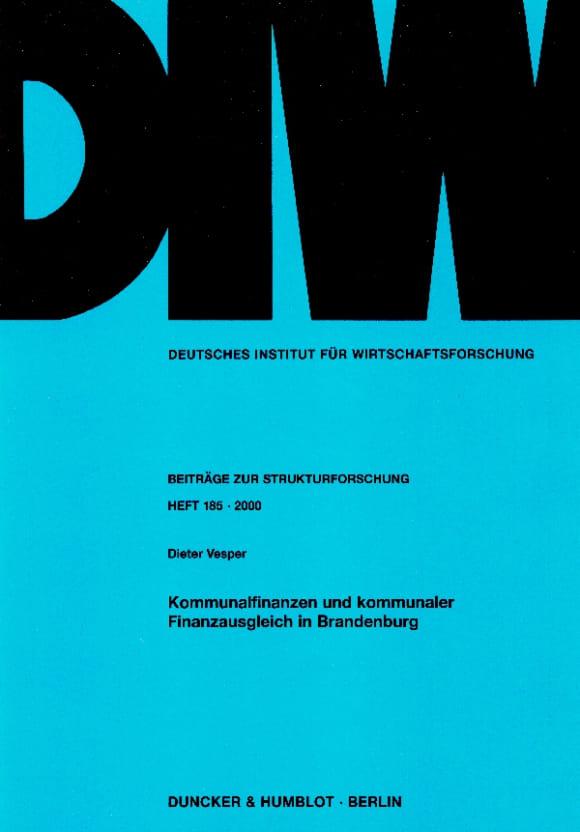 Cover Kommunalfinanzen und kommunaler Finanzausgleich in Brandenburg