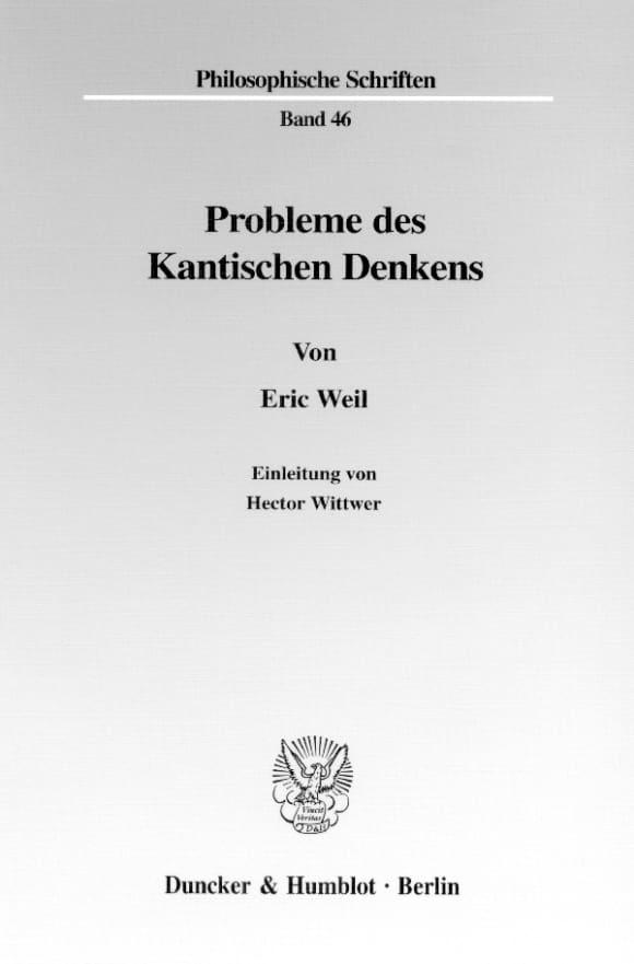 Cover Probleme des Kantischen Denkens