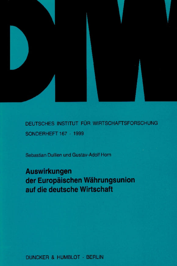 Cover Auswirkungen der Europäischen Währungsunion auf die deutsche Wirtschaft