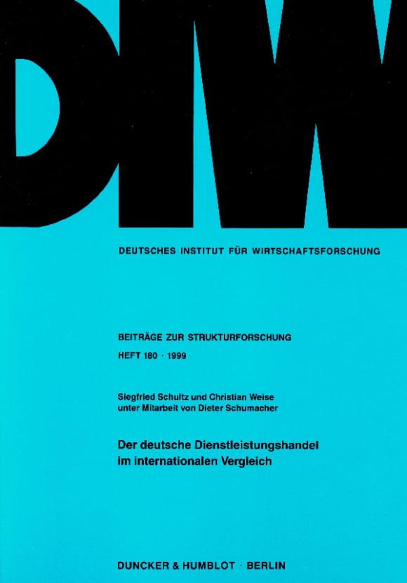 Cover Der deutsche Dienstleistungshandel im internationalen Vergleich